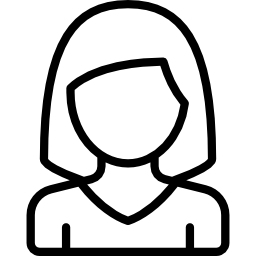 icon of an outline of a female