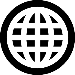An icon of a circle representing the world wide web